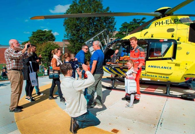 Traumahelikopter op Traumadag