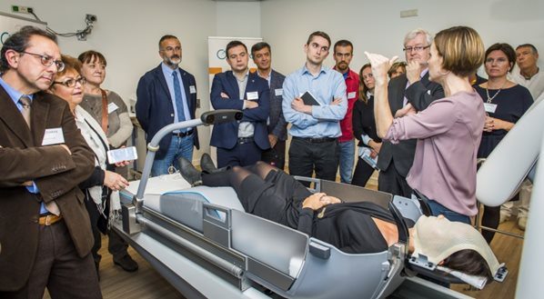Demonstratie bij Gamma Knife Icon in ETZ